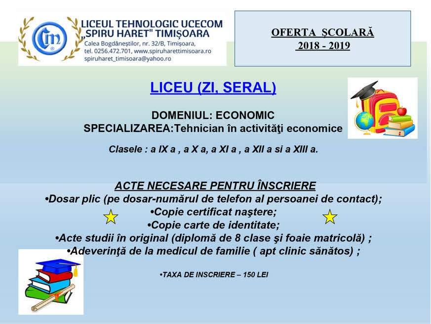 Liceul Tehnologic Ucecom Spiru Haret Timisoara Liceul Ucecom